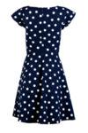 Вталена дамска рокля със срязване в талията