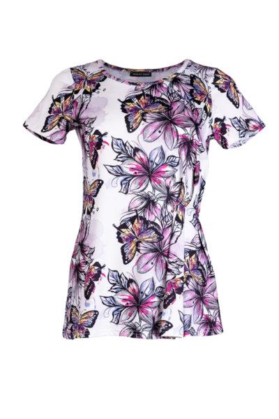 Трикотажна дамска блуза с набори