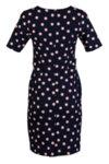 Дамска рокля с 3/4 ръкав и щрифелки на талията