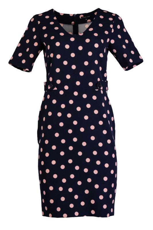 Дамска рокля с 3/4 ръкав и щрифелки на талията-Copy