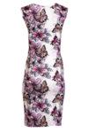 Трикотажна рокля без ръкави, с шпиц деколте и чупки на талията