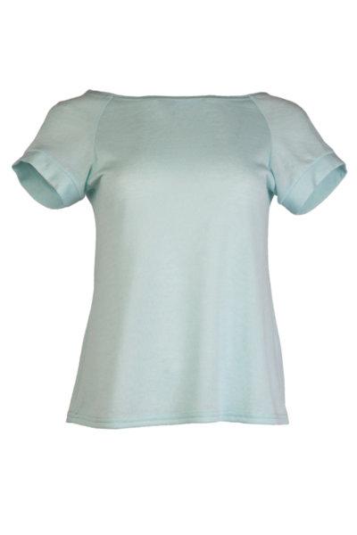 """Дамска блуза от финно плетиво, реглан ръкав и деколте тип """"лодка"""""""