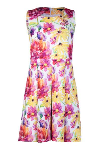 Дамска рокля без ръкав с разкроена долна част