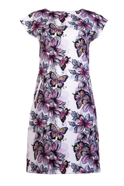 Дамска рокля с джобове и малка поло яка