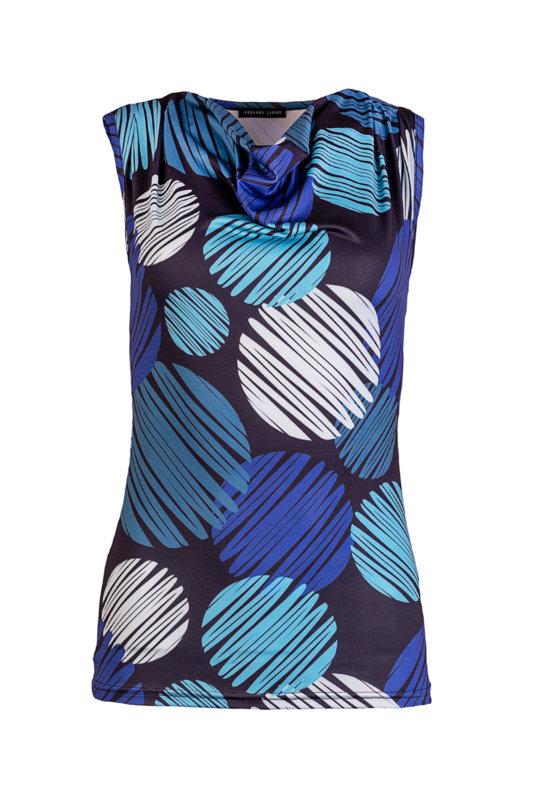 Трикотажна, дамска блуза без ръкави с гръцко деколте-Copy