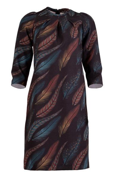 Дамска рокля с атрактивна щампа