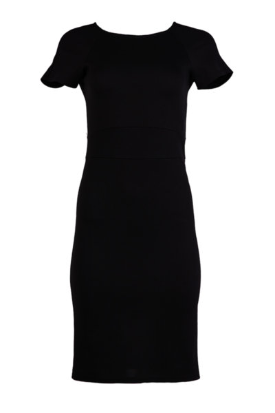 Дамска рокля с къс реглан ръкав и вграден колан