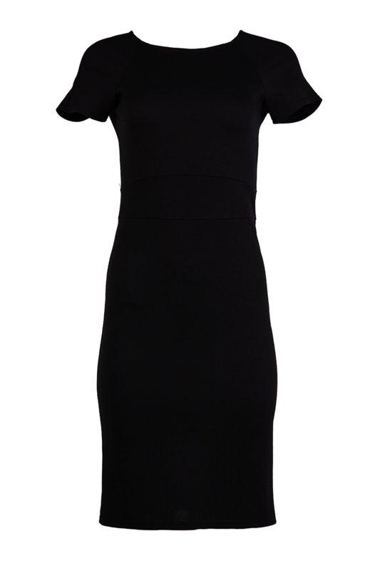 Дамска рокля с къс реглан ръкав и вграден колан-Copy
