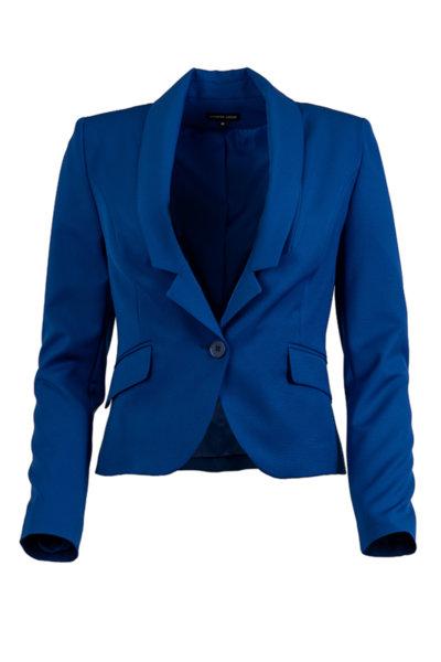 Елегантно дамско сако с копче и ревери