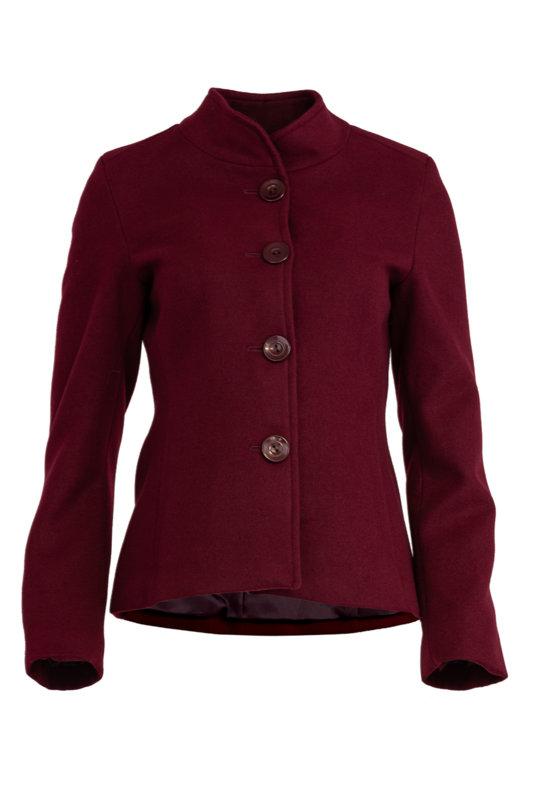 Късо дамско палто с декоративен колан на гърба-Copy