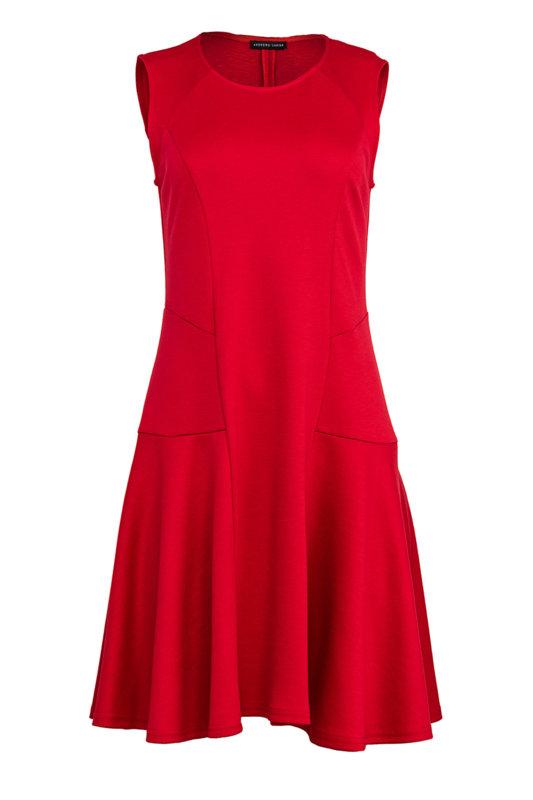Разкроена дамска рокля с декоративни срязвания от мек трикотажен плат-Copy