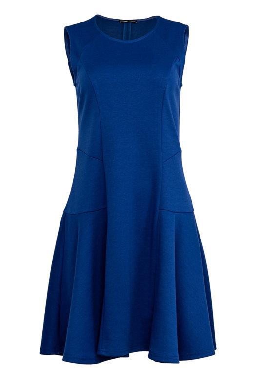 Разкроена дамска рокля с декоративни срязвания от мек трикотажен плат-Copy-Copy