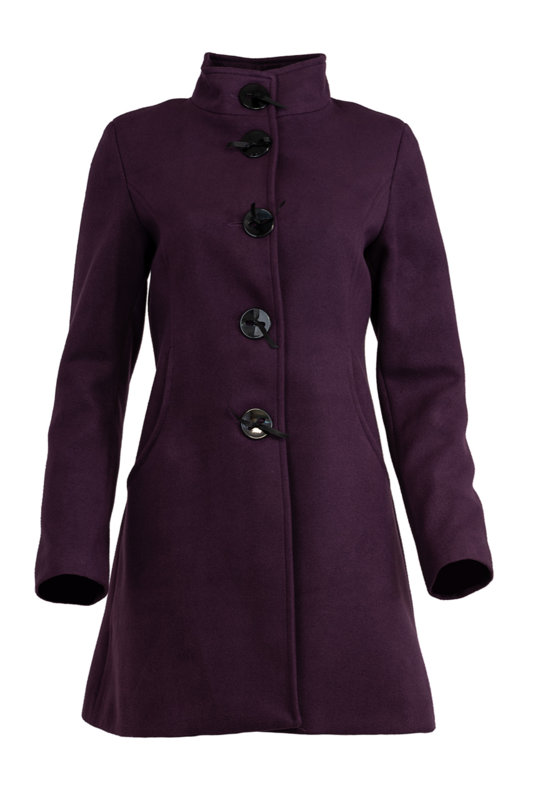 Дамско палто с декоративни срязвания в гърба и копчета със сатенени панделки-Copy