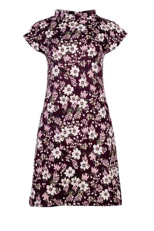 Дамска рокля с джобове и малка поло яка-Copy