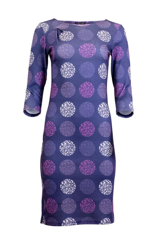 Вталена трикотажна рокля с 3/4 ръкав-Copy