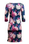 Вталена трикотажна рокля с 3/4 ръкав