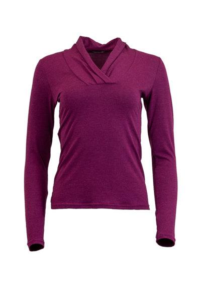 Дамска блуза с дълъг ръкав и V-образно дколте
