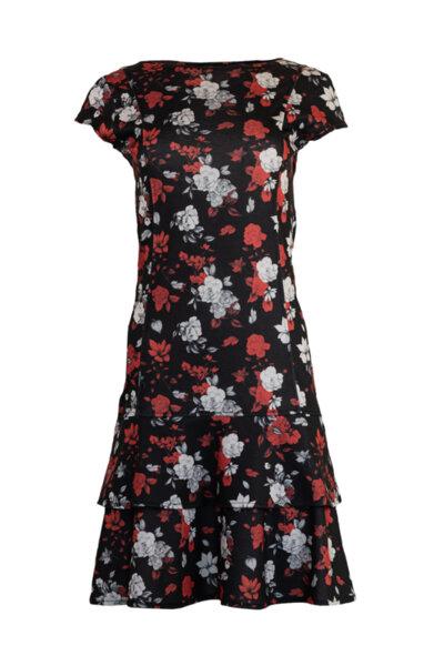 Дамска рокля с волани