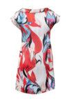 Дамска рокля от сатениран шифон