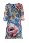 Дамска рокля с 3/4 ръкав и ци