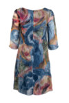 Дамска рокля с 3/4 ръкав и цип-Copy