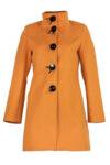 Дамско палто с декоративни срязвания в гърба и копчета със сатенени панделки