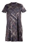 Дамска рокля с малка поло яка и разкрояване в долната част