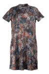 Дамска рокля с малка поло яка и разкрояване в долната част-Copy