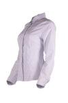 Класическа дамска риза с дълги ръкави и вградени детайли на предницата-Copy