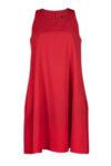 Свободна рокля с презрамки и клоширан силует
