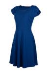 Вталена рокля със срязване в талията и клоширана долна част-Copy