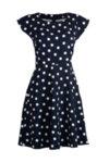 Вталена рокля със срязване в талията-Copy