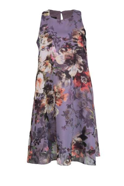 Свободна романтична рокля с презрамки и клоширан силует