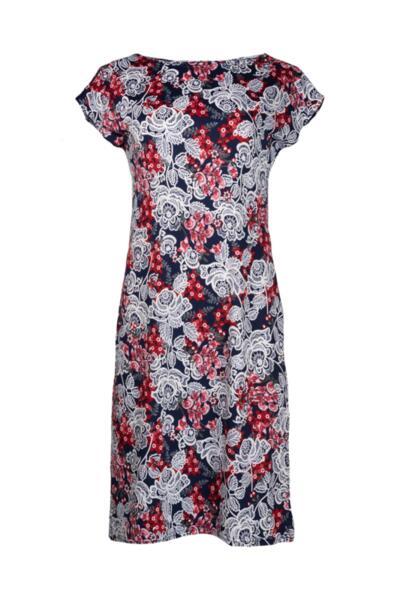 Трикотажна права рокля от трико