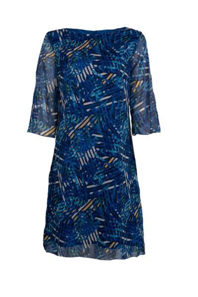 Дамска рокля с 3/4 ръкав и цип