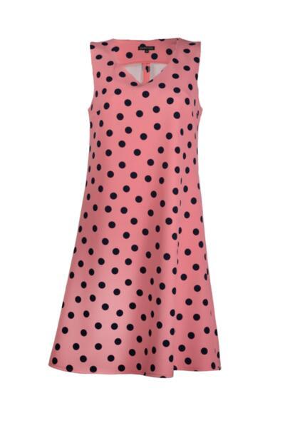 Дамска рокля с V-образно деколте