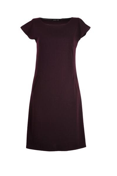 Ретро рокля с джобове и малка поло яка, с трапецовиден силует