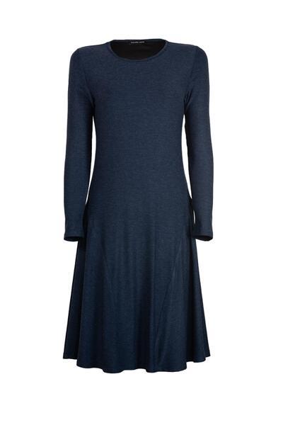 Дамска рокля с дълъг ръкав от трико