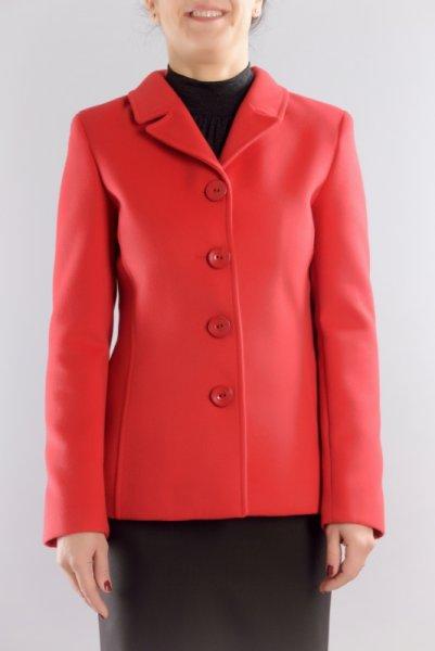 Дамско късо вталено палто