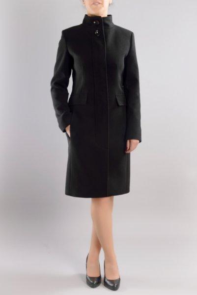 Вталено елегантно палто, със скрито закопчаване