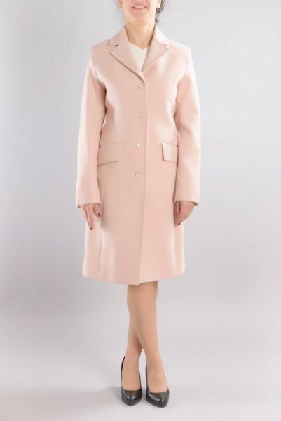 Дамско класическо вталено палто с ревери и 4 копчета