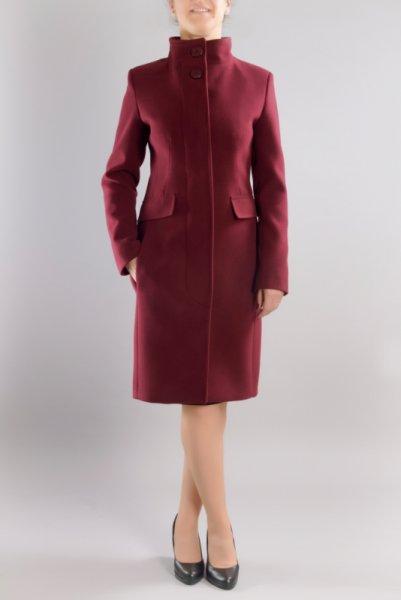 Дамско вталено елегантно палто, със скрито закопчаване