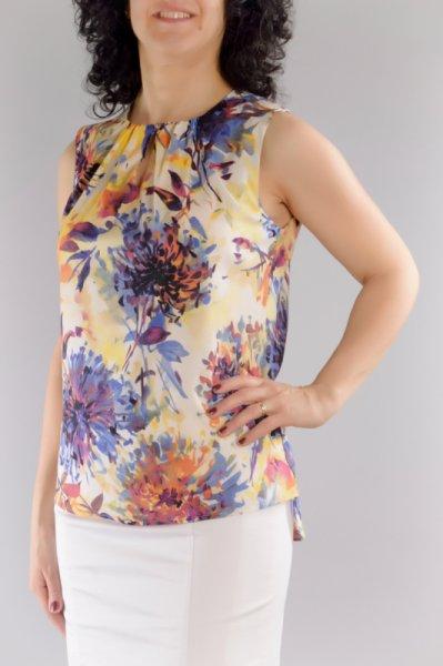 Ефирна Блуза Без Ръкави