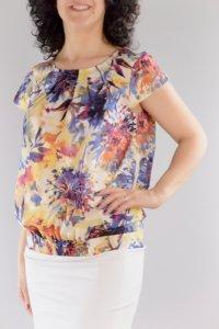 Блуза със свободен силует