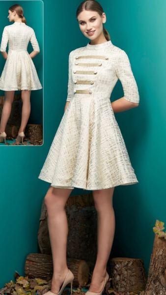 Разкроена дамска рокля NELITA с 3/4 ръкав