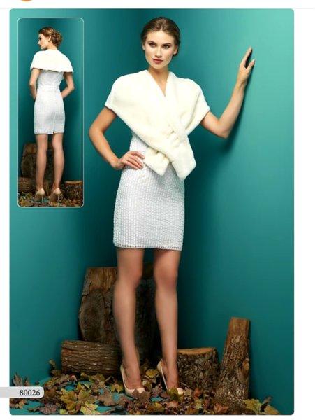 Дамска рокля Efrea бяла