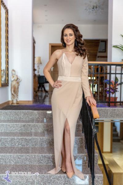 Официална рокля LORENA бежова