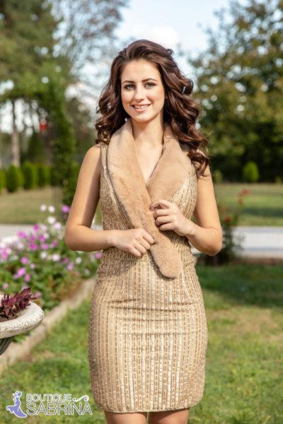 Луксозна пайетена рокля