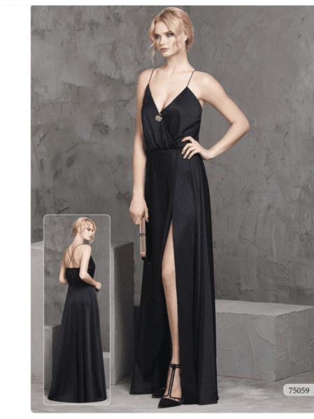 Елегантна дълга официална рокля