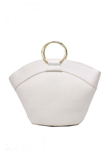 Елегантна дамска чанта с дръжка метален пръстен Tom & Eva